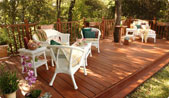 softwood lumber deck